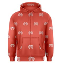 Glasses Disco Retina Red White Line Men s Zipper Hoodie by Mariart