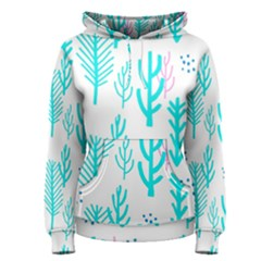 Forest Drop Blue Pink Polka Circle Women s Pullover Hoodie by Mariart