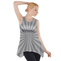 Grey Starburst Line Light Side Drop Tank Tunic by Mariart