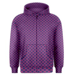 Polka Dot Purple Blue Men s Zipper Hoodie by Mariart