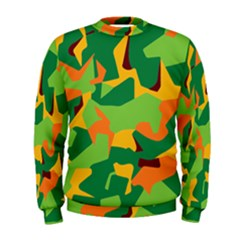 Initial Camouflage Green Orange Yellow Men s Sweatshirt by Mariart