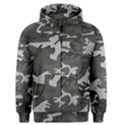Initial Camouflage Grey Men s Zipper Hoodie View1