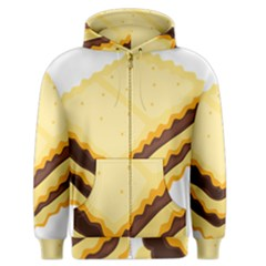 Sandwich Biscuit Chocolate Bread Men s Zipper Hoodie by Mariart