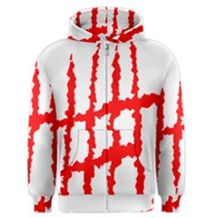 Scratches Claw Red White H Men s Zipper Hoodie by Mariart