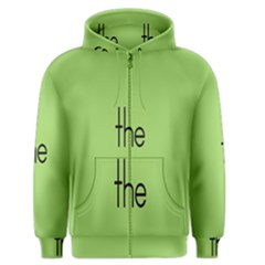 Sign Green The Men s Zipper Hoodie by Mariart