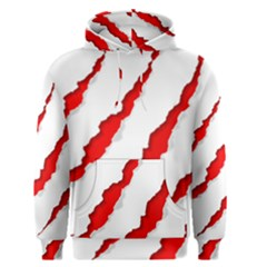 Scratches Claw Red White Men s Pullover Hoodie by Mariart