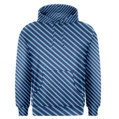 Striped  Line Blue Men s Pullover Hoodie by Mariart