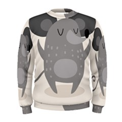Tooth Bigstock Cute Cartoon Mouse Grey Animals Pest Men s Sweatshirt by Mariart