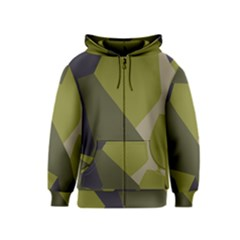 Unifom Camuflage Green Frey Purple Falg Kids  Zipper Hoodie by Mariart
