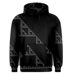 Triangle Black White Chevron Men s Pullover Hoodie by Mariart