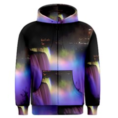 Niagara Falls Dancing Lights Colorful Lights Brighten Up The Night At Niagara Falls Men s Zipper Hoodie by Simbadda