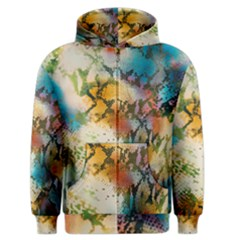 Abstract Color Splash Background Colorful Wallpaper Men s Zipper Hoodie by Simbadda