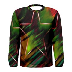 Colorful Background Star Men s Long Sleeve Tee by Simbadda