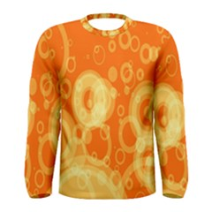 Retro Orange Circle Background Abstract Men s Long Sleeve Tee by Nexatart