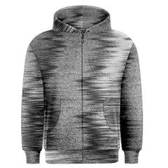 Rectangle Abstract Background Black And White In Rectangle Shape Men s Zipper Hoodie by Nexatart