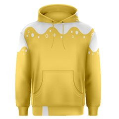 Beer Foam Yellow White Men s Pullover Hoodie by Mariart