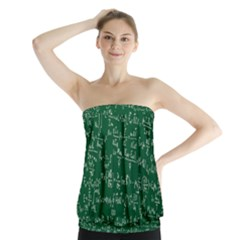 Formula Number Green Board Strapless Top by Mariart