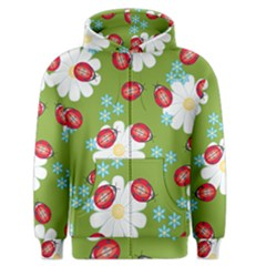 Insect Flower Floral Animals Star Green Red Sunflower Men s Zipper Hoodie by Mariart