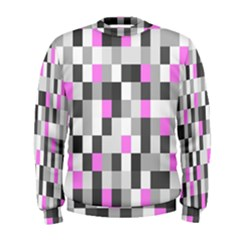 Pink Grey Black Plaid Original Men s Sweatshirt by Mariart