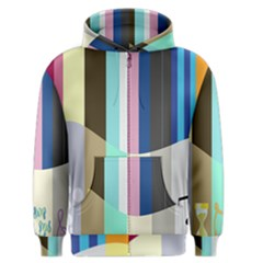 Rainbow Color Line Vertical Rose Bubble Note Carrot Men s Zipper Hoodie by Mariart