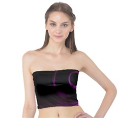 Purple Flower Floral Tube Top by Mariart