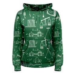 Scientific Formulas Board Green Women s Pullover Hoodie by Mariart
