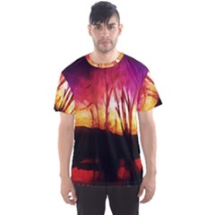Fall Forest Background Men s Sport Mesh Tee by Nexatart