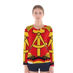National Emblem Of East Germany  Women s Long Sleeve Tee by abbeyz71
