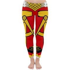 National Emblem Of East Germany  Classic Winter Leggings by abbeyz71