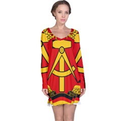 National Emblem Of East Germany  Long Sleeve Nightdress by abbeyz71