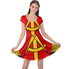 National Emblem Of East Germany  Cap Sleeve Dresses by abbeyz71