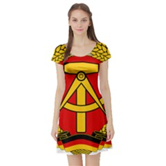 National Emblem Of East Germany  Short Sleeve Skater Dress by abbeyz71