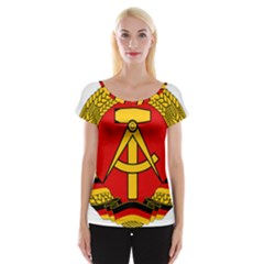 National Emblem Of East Germany  Women s Cap Sleeve Top by abbeyz71