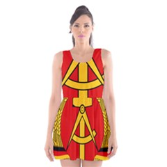 National Emblem Of East Germany  Scoop Neck Skater Dress by abbeyz71