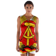National Emblem Of East Germany  Wrap Front Bodycon Dress by abbeyz71