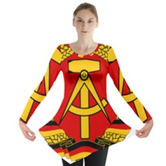 National Emblem Of East Germany  Long Sleeve Tunic  by abbeyz71