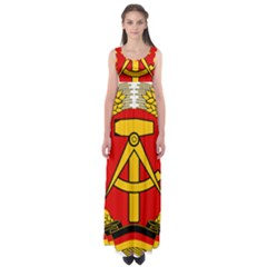 National Emblem Of East Germany  Empire Waist Maxi Dress by abbeyz71