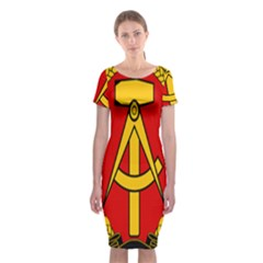 National Emblem Of East Germany  Classic Short Sleeve Midi Dress by abbeyz71