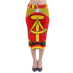 National Emblem Of East Germany  Midi Pencil Skirt by abbeyz71