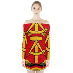 National Emblem Of East Germany  Long Sleeve Off Shoulder Dress by abbeyz71