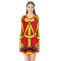 National Emblem Of East Germany  Flare Dress by abbeyz71