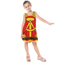 National Emblem Of East Germany  Kids  Sleeveless Dress by abbeyz71