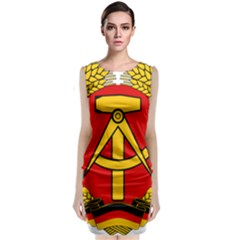 National Emblem Of East Germany  Sleeveless Velvet Midi Dress by abbeyz71