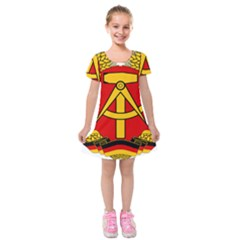 National Emblem Of East Germany  Kids  Short Sleeve Velvet Dress by abbeyz71