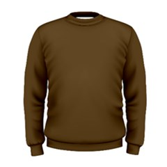Plain Brown Men s Sweatshirt by Jojostore