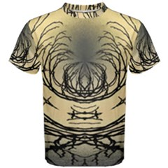 Atmospheric Black Branches Abstract Men s Cotton Tee by Nexatart