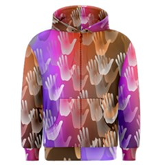Clipart Hands Background Pattern Men s Zipper Hoodie by Nexatart