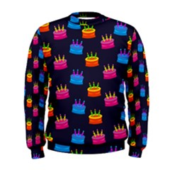 A Tilable Birthday Cake Party Background Men s Sweatshirt by Nexatart