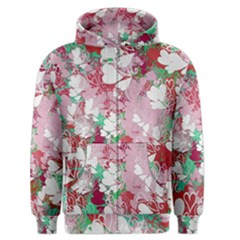 Confetti Hearts Digital Love Heart Background Pattern Men s Zipper Hoodie by Nexatart