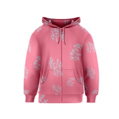 Branch Berries Seamless Red Grey Pink Kids  Zipper Hoodie by Mariart